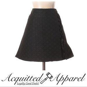 Nanette Lepore Jacquard Black A Line Skirt
